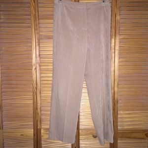 First Option Microsuede Tan Casual Pants